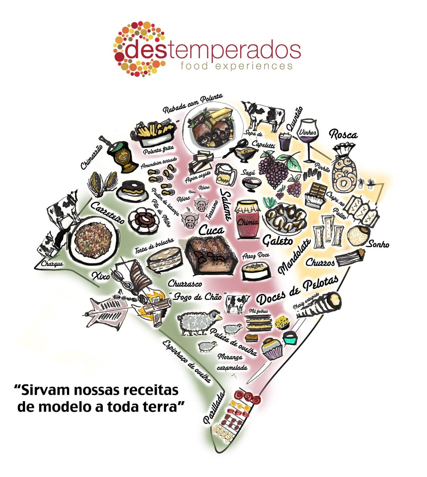 Mapa Gastronômico do Rio Grande do Sul