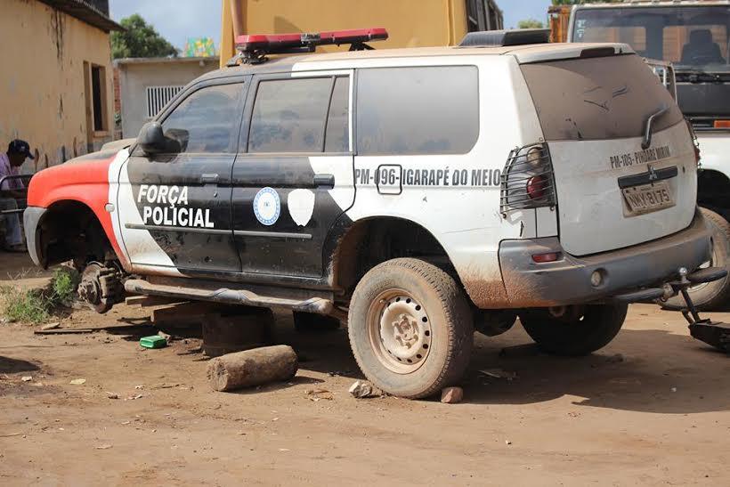 Resultado de imagem para policia militar no maranhao viatura sucateadas