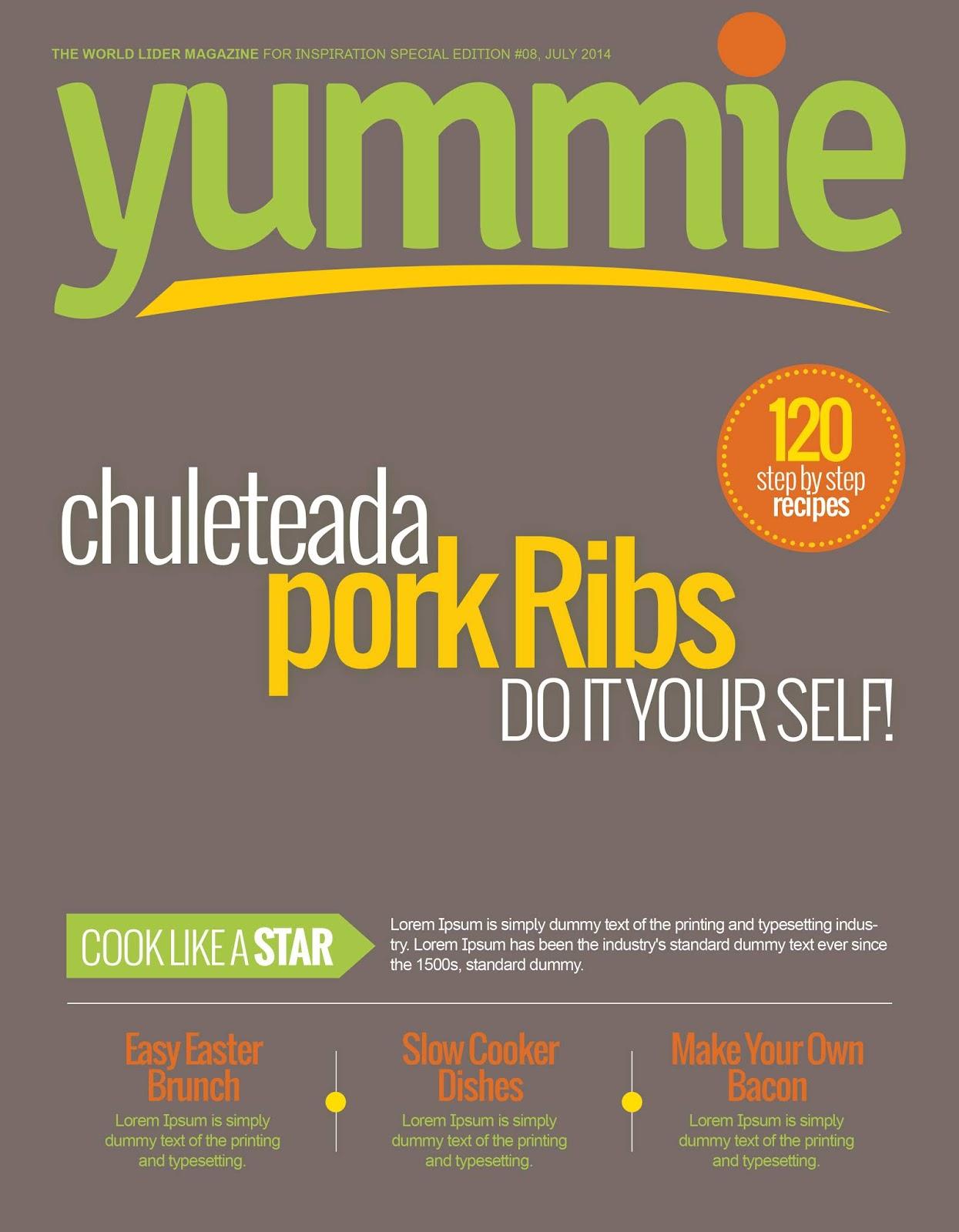 Yemek Dergi Kapağı Tasarımı