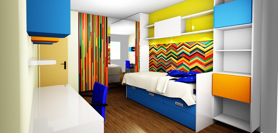 design interior camera tineret pentru baieti