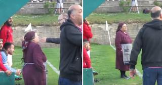 Γιαγιά μπήκε στο γήπεδο γιατί την ενοχλούσε η φασαρία (Βίντεο)