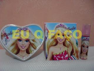 barbie escola de princesas, brindes da barbie, kit maquiagem, lembrancinhas, brindes, festa, infantil