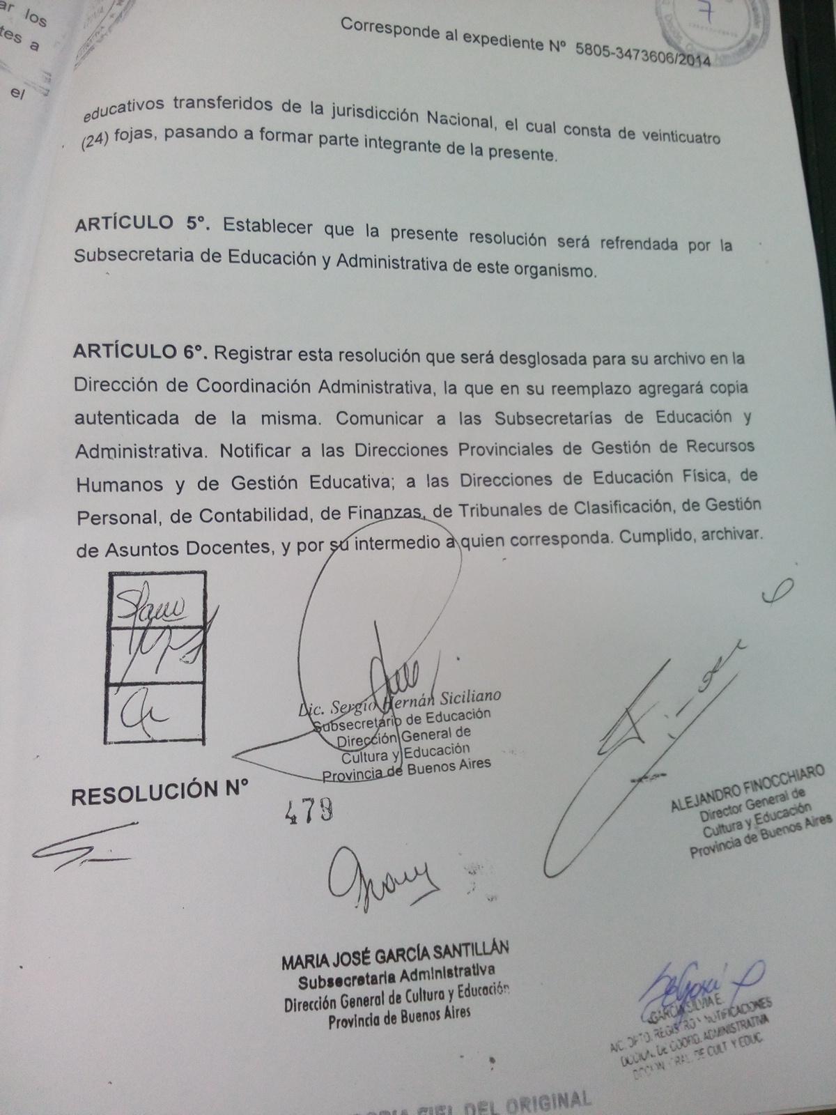 General rodriguez comunicado n 309 16 resoluci n 479 16 for Resolucion docentes 2016