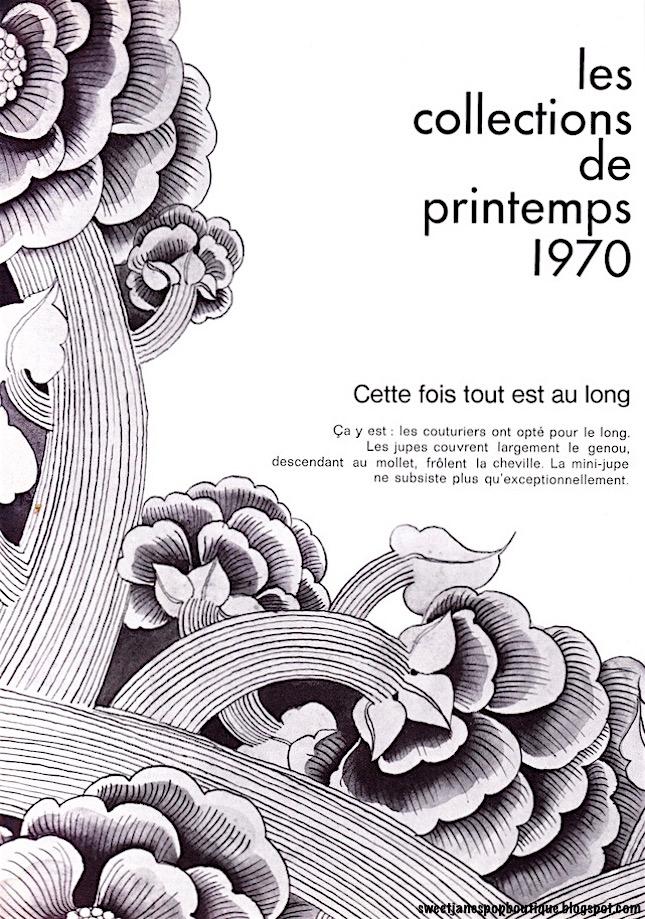 FASHION MAGAZINE ILLUSTRATION 1970