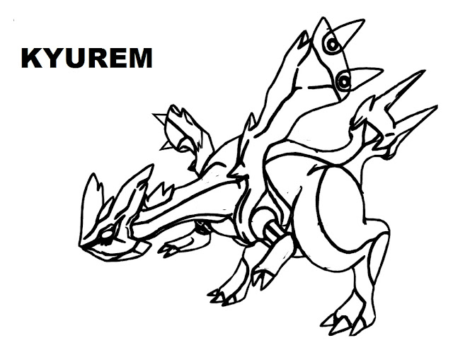 Kyurem Legendary Pokemon Coloring Pages