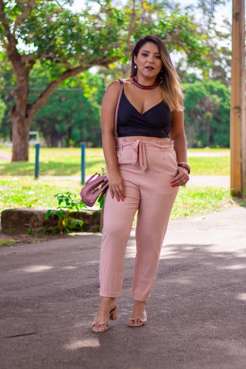 Look do dia: calça clochard rosa