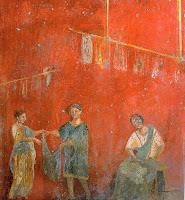 Fresco de la fullonica de Veranius Hypsaeus en Pompeya