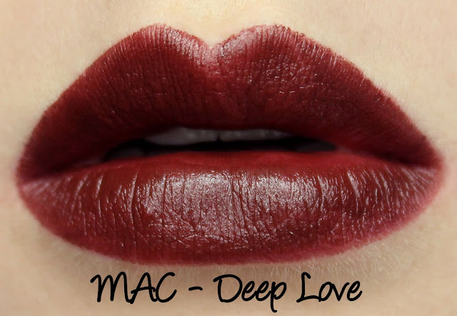 MAC Monday: MACnificent Me - Deep Love Lipstick Swatches & Review