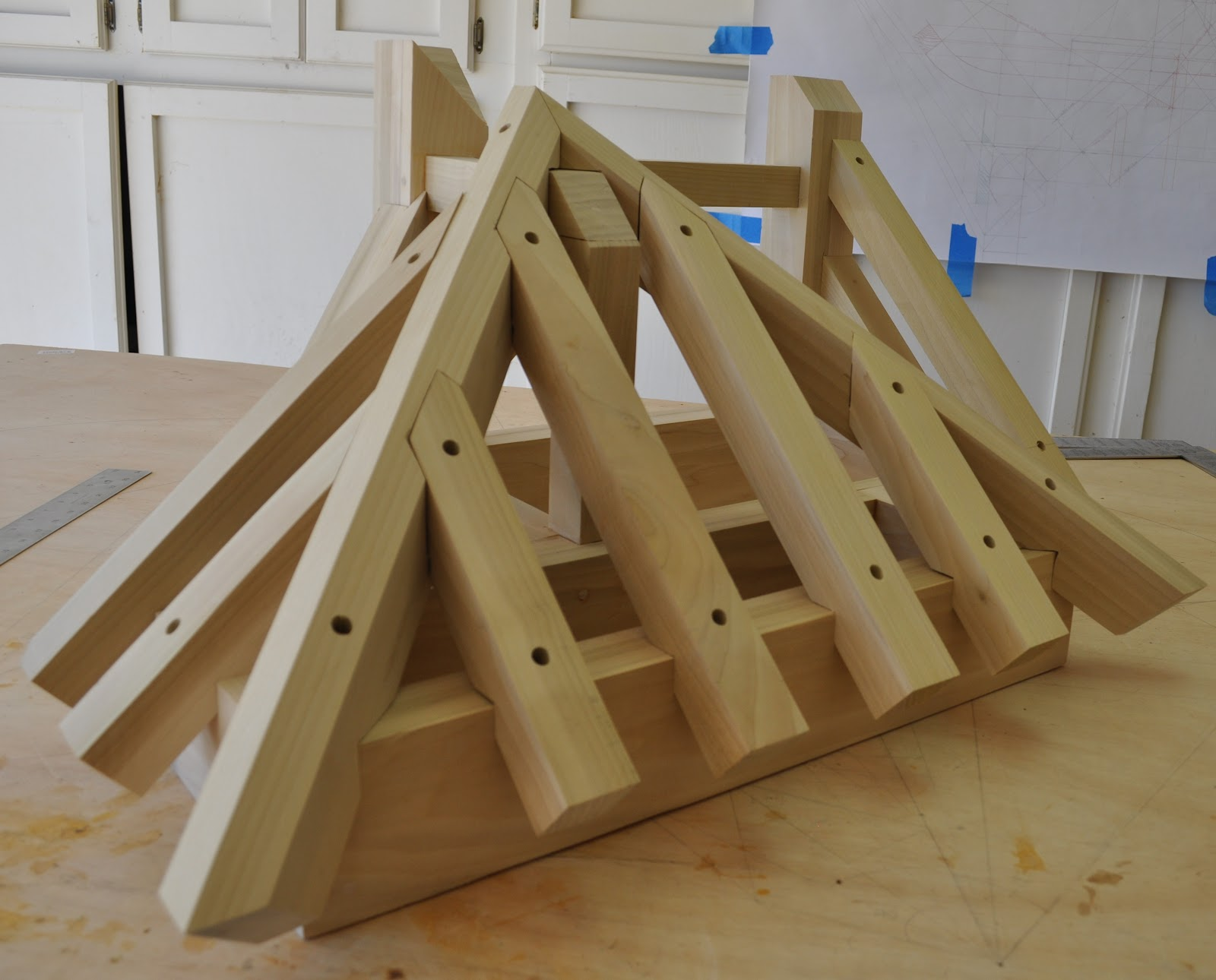 Roof Framing Geometry Square Cut Tenon Jack Rafters