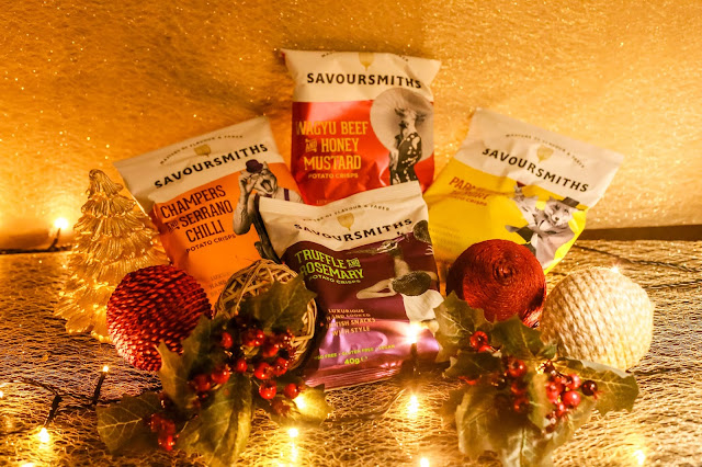 Savoursmiths potato crisps - For more ideas on how to survive the Christmas period and festive season read my pre-Christmas gift guide.