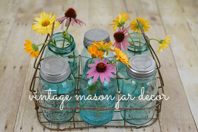 Vintage mason jar decor | My Darling Days