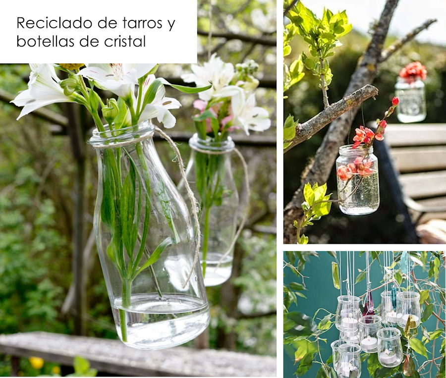 40 ideas de reciclaje y manualidades para el jard n plantas - Como decorar reciclando ...