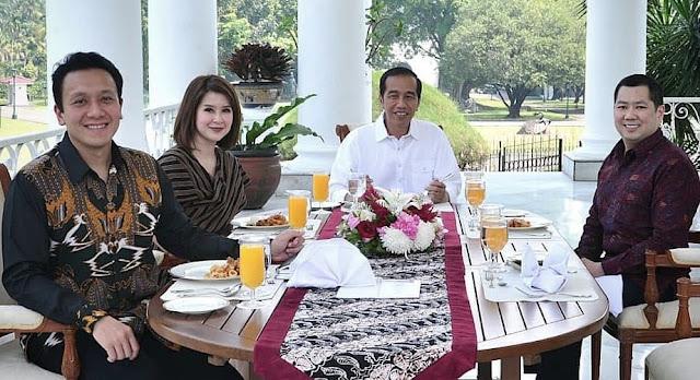 Jokowi Jamu Makan Siang Ketua Umum PSI, Perindo dan PKPI di Istana Bogor