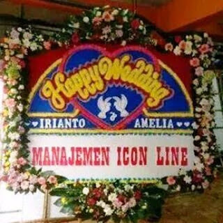 Contoh Bunga Papan Happy Wedding