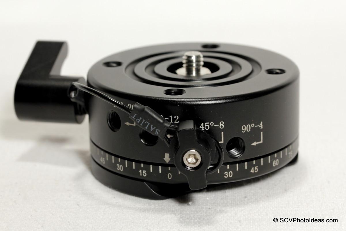 Sunwayfoto DDP-64SX Detent interval holes & control knob