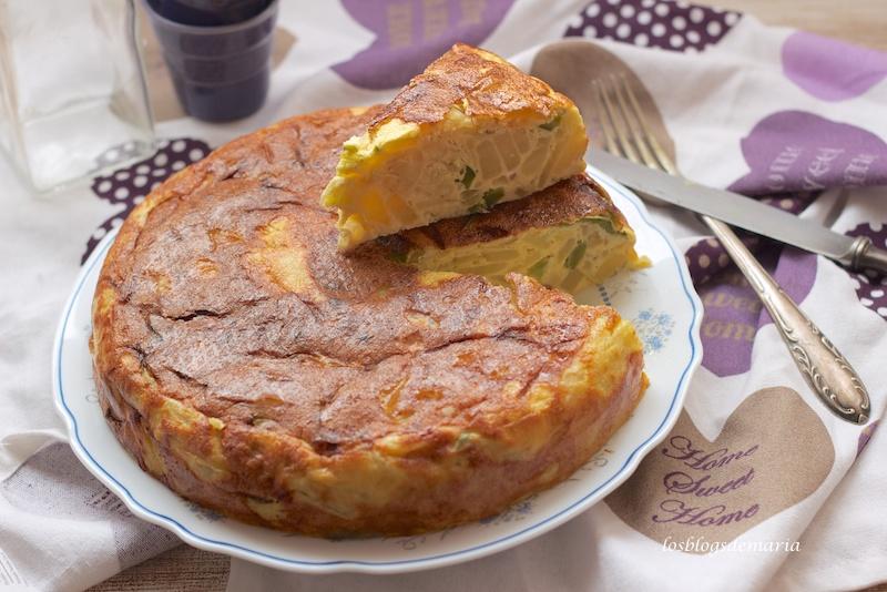Tortilla de pimiento y cebolla en Cookeo