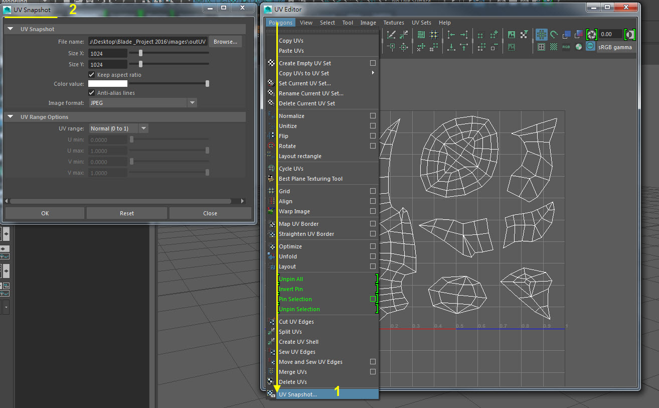 Blade UV Mapping 11