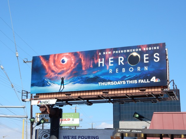 Heroes Reborn TV miniseries billboard