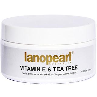 Sữa rửa mặt Lanopearl tinh chất Trà xanh và Vitamin E