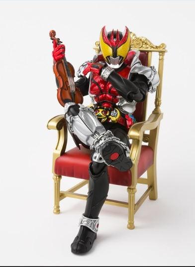 Action Figure Kamen Rider Kiva Dengan Motor dan Biola