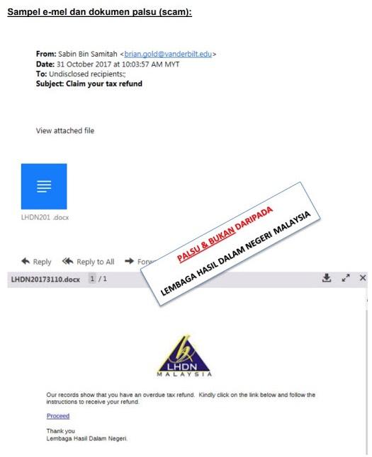 Jangan Tekan 'Proceed' Konon LHDN Nak 'Refund Tax', Nanti