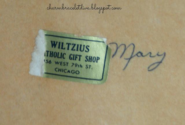 Vintage Wiltzius Catholic Gift Shop Chicago label