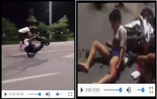 wheelie atau atraksi mengangkat roda depan sepeda motor saat melaju memang terlihat keren Wheelie : Awalnya Keren Dan Romantis, Akhirnya Kecelakaan Maut