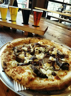 woodfired pizza, craft beer, beer flights, cleveland brewery