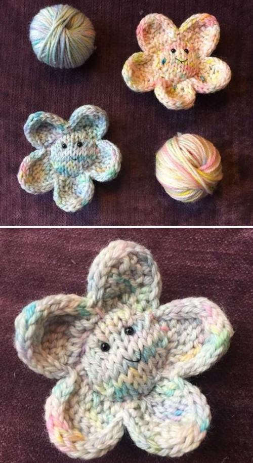 Smiley Flower - Free Knitting Pattern