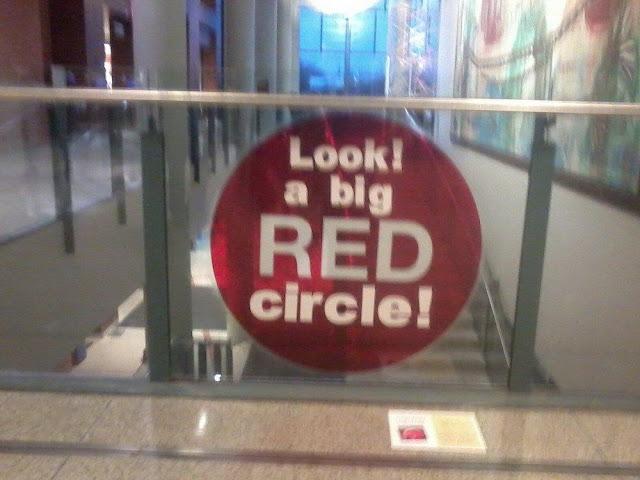 Big red circle