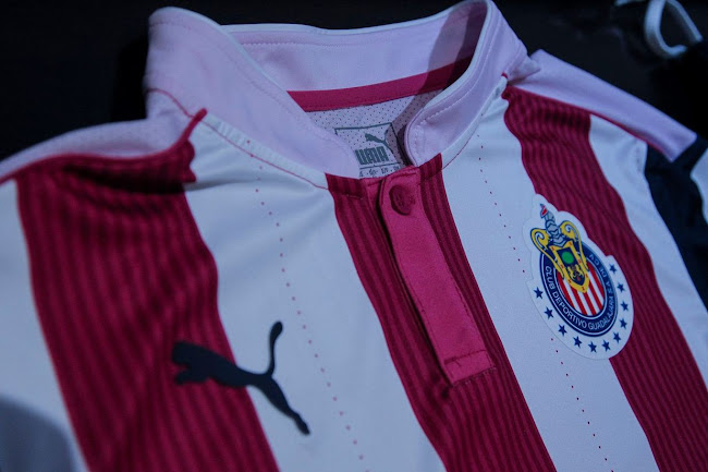 sports shoes b182a 86cce Special Pink Puma Chivas 2016 Kit Released - Footy Headlines