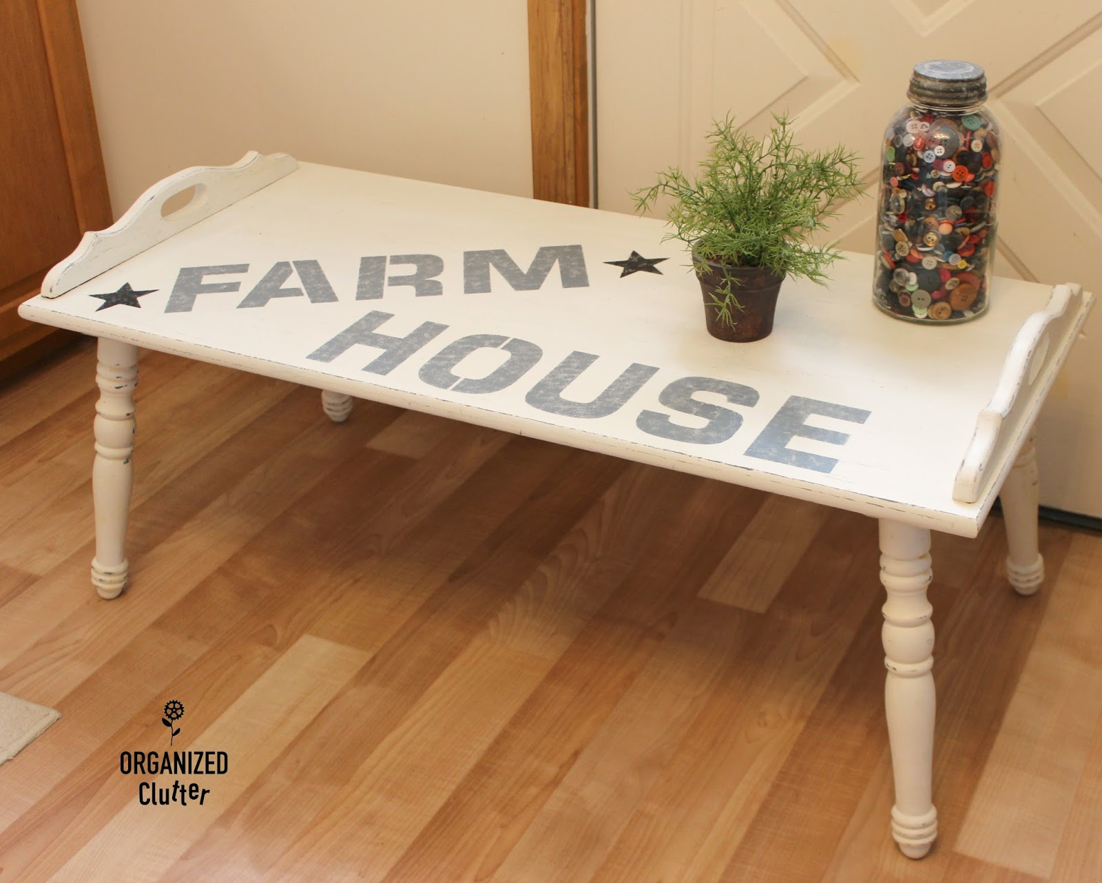 Organized Clutter Thrift Shop Farm House Coffee Table