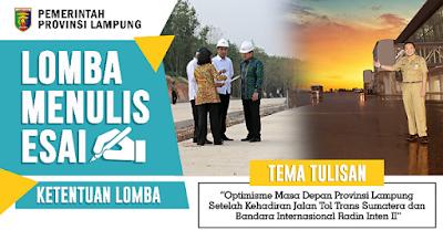65 Naskah Bersaing Dalam Lomba Menulis Esai Pemprov Lampung