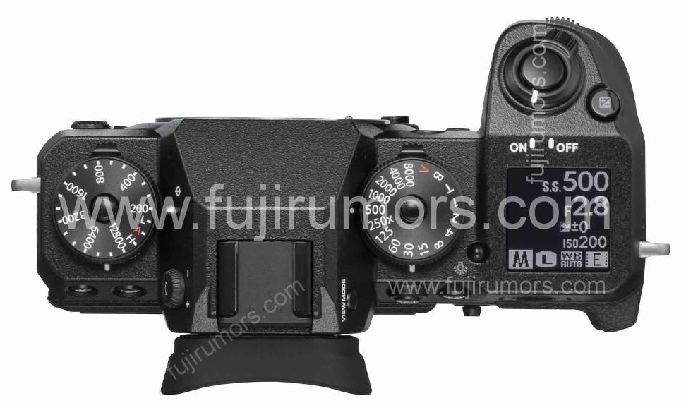 Fujifilm X-H1, вид сверху