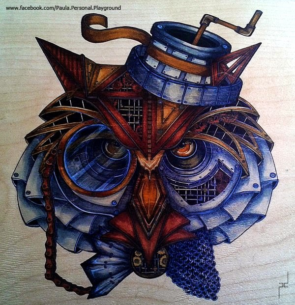 16-Steampunk-Owl-Paula-Duță-Drawing-Animals-Steampunk-Clothing-www-designstack-co