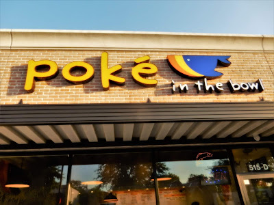 poke in the bowl (signage on store in Montrose)