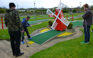 Photo of Richard Gottfried playing some Arnold Palmer Mini Golf in Skegness on National Miniature Golf Day 2015