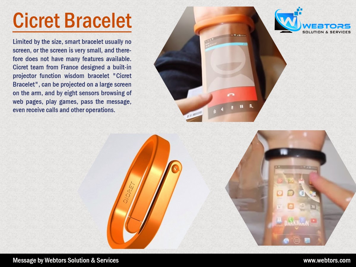This Cicret Bracelet Future Technology