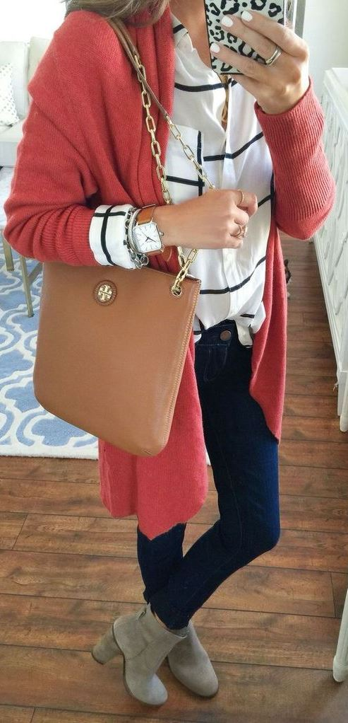 Outfits Club: 45+ Chic Cardigan Outfits You Can't Go Wrong With
