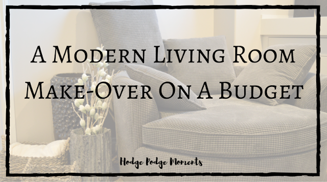A Modern Living Room Make-Over On A Budget