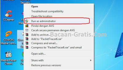 kelebihan menjalankan program di administrator
