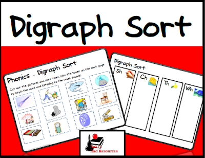 Free digraph picture sort from Raki's Rad Resources.