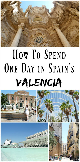 PIN FOR LATER: How to spend one day in Valencia, Spain. Visit the famous Cathedral, eat plenty of Paella, and walk the city's beautiful traditional Spanish streets.