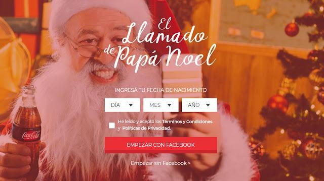 Llamado gratis de Papá Noel a tu hijo