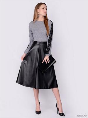 Faldas Negras de Cuero
