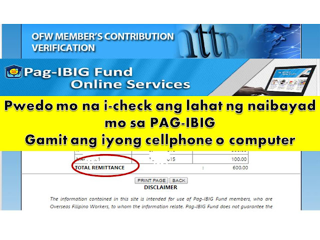 "Probably you are planning to apply for housing loan. As HDMF or PAg-Ibig Fund member, you needed to meet the minimum 24 months contribution. But one of that challenges of many members specially those who are working overseas or the self-employed and voluntary members is keeping track of all payments and contributions in Pag-Ibig.   READ: Pag-Ibig Housing Loan, Avail up to Php 6 Million    Are you a Pag-Ibig member and you want to verify if your payments are updated in the system?  You can do it online in the convenience of your computer any time wherever you are.   To verify if your account payments or contribution has been updated. All you needed is an access to the internet. You can use your cellphone, tablet or computer to check your monthly contributions in PAg-Ibig or Home Development Mutual Fund.   In your cellphone or computer do the following:  1. Visit https://www.pagibigfundservices.com/   Click on the OFW Member's contribution verification picture.    2. It will lead you to the next page where you have to enter your Pag-Ibig MID number which you can find on your MID ID or card.   READ: How to Get Your Pag-IBIG Member's ID (MID) Number Online   How To Register For Pag-Ibig and Become A Member   Apply For Pag-Ibig Loyalty Card And Get Special Discounts On Medicine, Tuition, Hotel And Restaurant Purchases     Fill-up the boxes with your Pag-Ibig MID No., last name and first name and don't forget to enter the code on the lower side on the box opposite. Then click ""PROCEED"".             3. This page will appear showing your full name and date of birth. Below your account information you can find a link so you can view all the contributions you have made on your account.    Double click on the  ""View Membership Savings"".    4. A page like the one below will open. You will find details of all your contribution including the month and the amount of contribution    READ: How to Get Your Pag-IBIG Member's ID (MID) Number Online   How To Register For Pag-Ibig and Become A Member   Apply For Pag-Ibig Loyalty Card And Get Special Discounts On Medicine, Tuition, Hotel And Restaurant Purchases  ©2016 THOUGHTSKOTO"