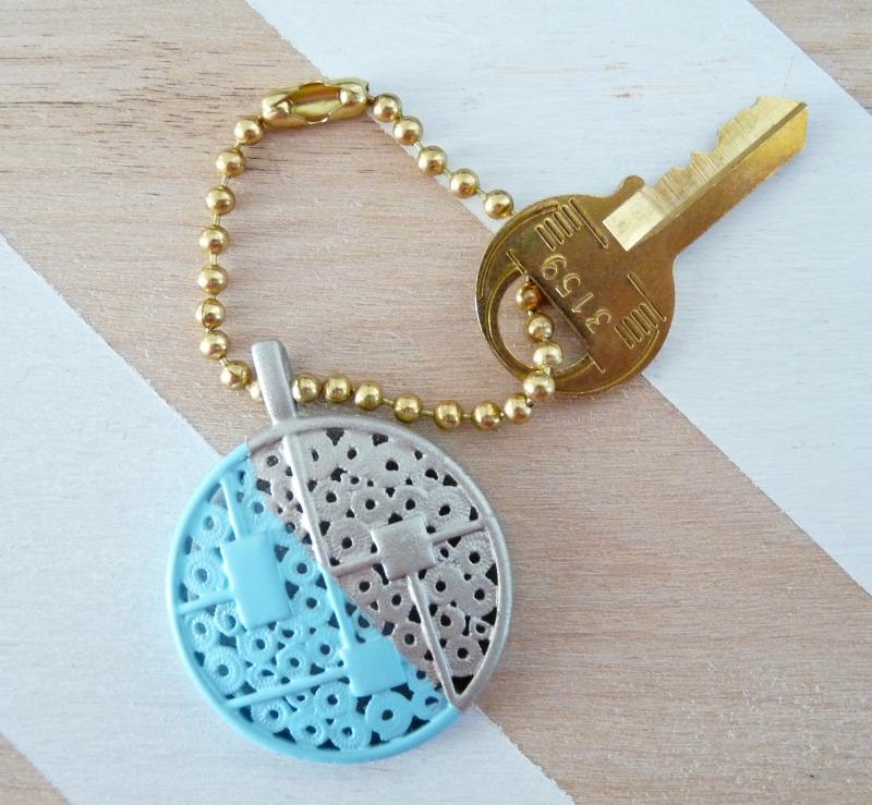 DIY Spray Painted Key Chain