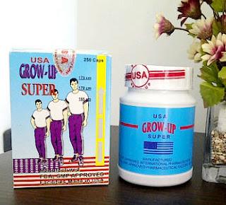 Suplemen Grow-up peninggi badan alami dan ampuh