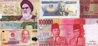 7 Negara Dengan Mata Uang Paling Rendah di Dunia
