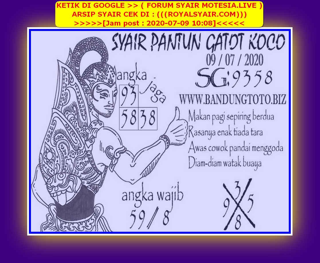 Kode syair Singapore Kamis 9 Juli 2020 157